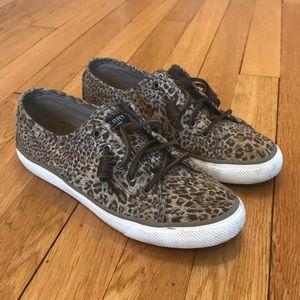 Sperry leopard print sneakers